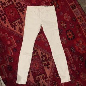 White coated pants